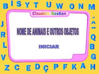 NOME DE ANIMAIS E OUTROS OBJETOS