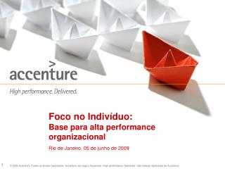 Foco no Indiv duo:  Base para alta performance organizacional