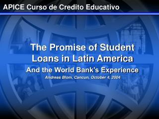 APICE Curso de Credito Educativo