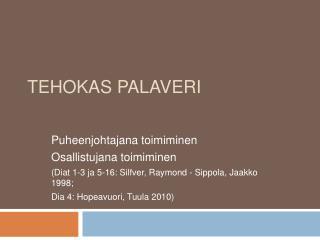 TEHOKAS PALAVERI