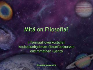 Mit  on Filosofia