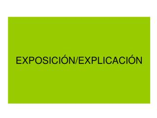 EXPOSICI N
