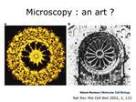 Microscopy : an art