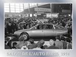 SALON DE L AUTO PARIS  1974