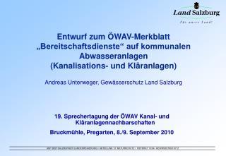 Entwurf zum  WAV-Merkblatt   Bereitschaftsdienste  auf kommunalen Abwasseranlagen  Kanalisations- und Kl ranlagen  Andre