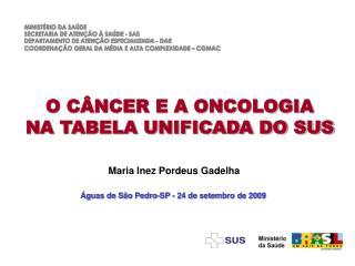 O C NCER E A ONCOLOGIA NA TABELA UNIFICADA DO SUS