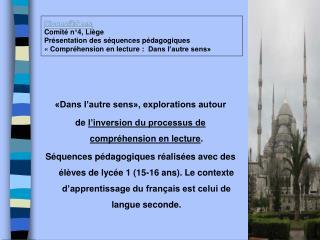 SignesSens Comit  n 4, Li ge Pr sentation des s quences p dagogiques   Compr hension en lecture :  Dans l autre sens