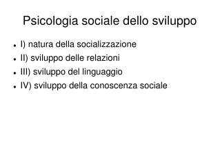 Psicologia sociale dello sviluppo