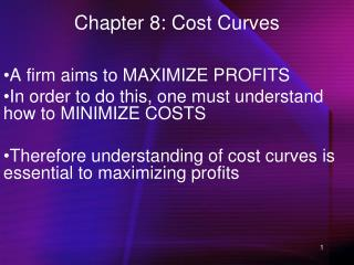 Chapter 8: Cost Curves