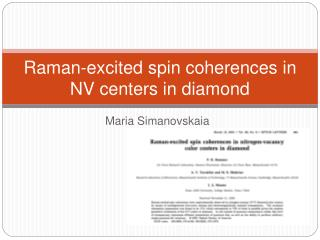 Raman-excited spin coherences in NV centers in diamond