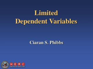Limited Dependent Variables