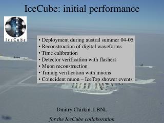 IceCube: initial performance