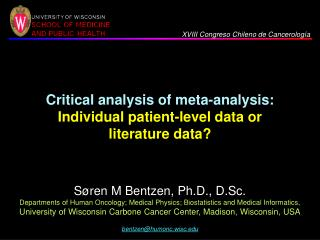 Critical analysis of meta-analysis: Individual patient-level data or literature data