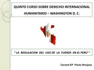 QUINTO CURSO SOBRE DERECHO INTERNACIONAL HUMANITARIO   WASHINGTON D. C.