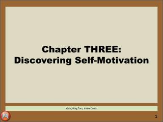 Chapter THREE: Discovering Self-Motivation