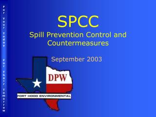 SPCC Spill Prevention Control and Countermeasures