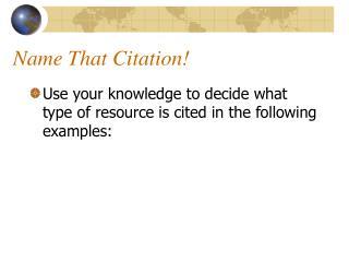 Name That Citation
