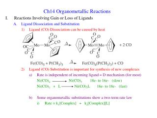 Ch14 Organometallic Reactions