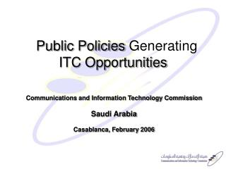 Public Policies Generating  ITC Opportunities