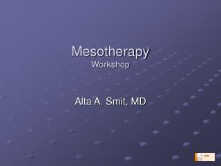 Mesotherapy  Workshop