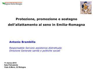 Protezione, promozione e sostegno dell allattamento al seno in Emilia-Romagna