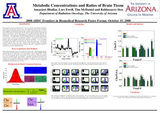 Metabolic Concentrations and Ratios of Brain Tissue Amarjeet Bhullar, Lars Ewell, Tim McDaniel and Baldassarre Stea Depa