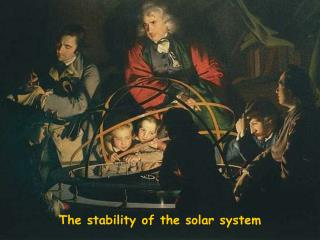 The stability of the solar system