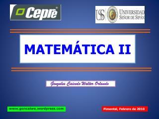 MATEM TICA II