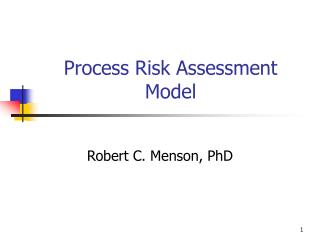 Process Risk Assessment Model