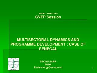 ENERGY WEEK 2006 GVEP Session     MULTISECTORAL DYNAMICS AND PROGRAMME DEVELOPMENT : CASE OF SENEGAL   SECOU SARR ENDA E
