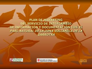 PLAN DE MARKETING  DEL SERVICIO DE INTERCAMBIO DE INFORMACI N Y DOCUMENTACI N CON EL  PARC NATURAL DE LA ZONA VOLC NICA