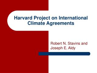 Harvard Project on International Climate Agreements