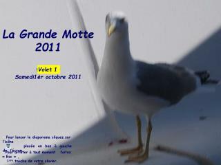 La Grande Motte 2011  Volet 1 :  Samedi1er octobre 2011
