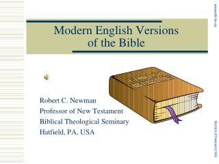 Modern English Versions of the Bible