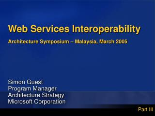Web Services Interoperability