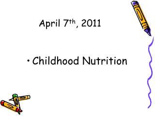 April 7th, 2011