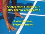Za to istra ivati podrucje sociologije sporta