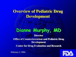Overview of Pediatric Drug Development