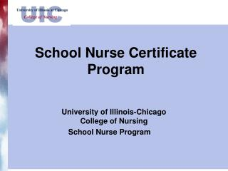 School Nurse Certificate Program