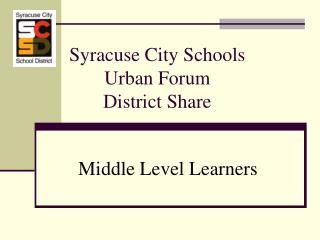 Syracuse City Schools