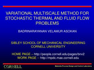 SIBLEY SCHOOL OF MECHANICAL ENGINEERING CORNELL UNIVERSITY  HOME PAGE   people.cornell