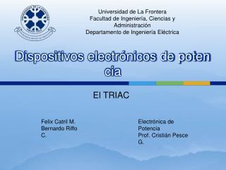 Dispositivos electr nicos de potencia