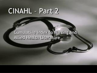CINAHL   Part 2