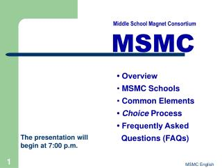 MSMC Program Booklet