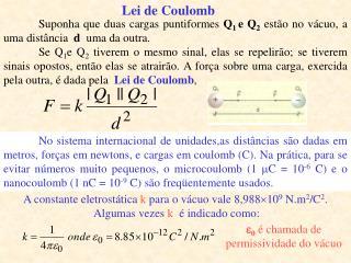 Lei de Coulomb