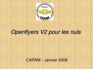 Openflyers V2 pour les nuls