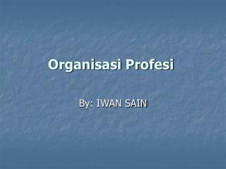 Organisasi Profesi