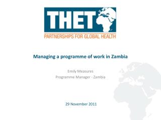 Managing a programme of work in Zambia