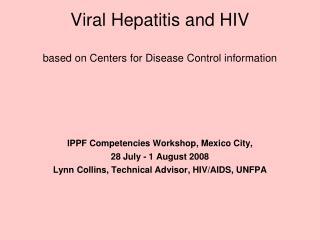 Viral Hepatitis and HIV