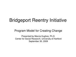 Bridgeport Reentry Initiative
